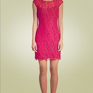 AAlice + Olivia Penni Cap Sleeve Bodycon Dress